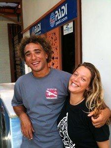 Legend Diving Lembongan Team -Ricardo and Isabel